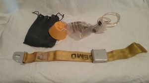 Airplane Oxygen Mask and Demo Belt