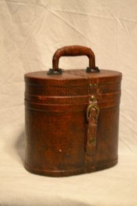 Brown Tall Oval Box