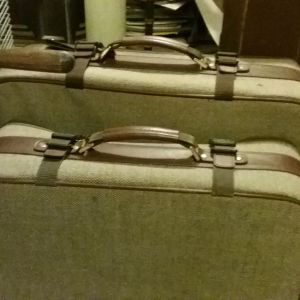 Matching lt. brown suitcases