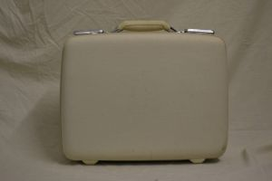 Small White American Tourister Suitcase 1960s