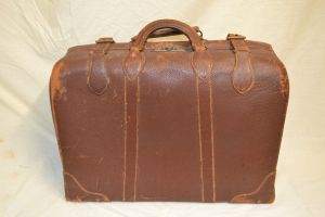 Tripack Schell Leather Suitcase 1940